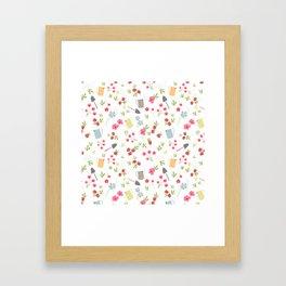 Spring gardening Framed Art Print