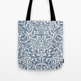 William Morris Navy Blue Botanical Pattern 2 Tote Bag