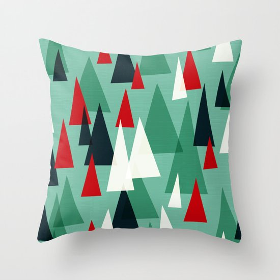 Abstract Forest by Friztin Throw Pillow