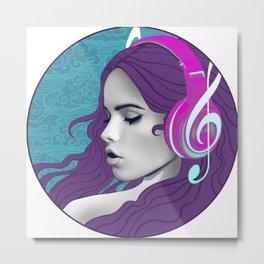 Song Girl Metal Print