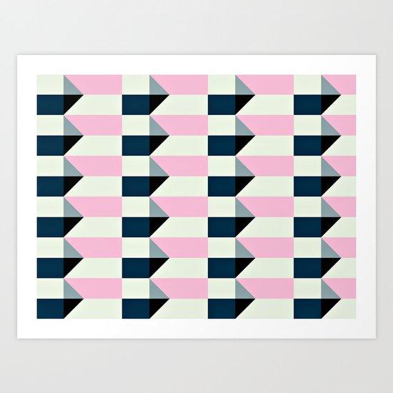 Crispijn Pink & Blue Art Print