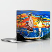pirates Laptop & iPad Skins featuring PIRATES by Aat Kuijpers