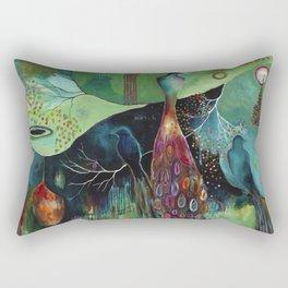 """Light Trio"" Original Painting by Flora Bowley Rectangular Pillow"