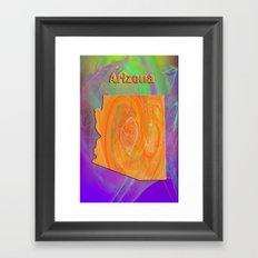 Arizona Map Framed Art Print