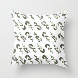 Christmas Holly  Throw Pillow