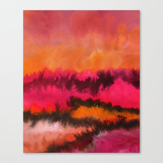 Watercolor abstract landscape 26 Canvas Print