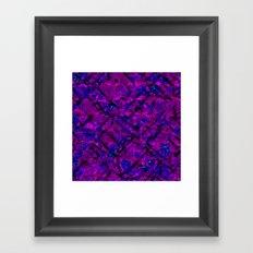 Vitrage (Purple) Framed Art Print