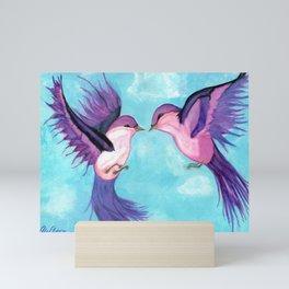Happy Birds Mini Art Print