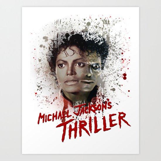 MJ Thriller Art Print