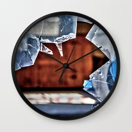 Broken window  Wall Clock