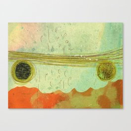 storm at the bay Canvas Print