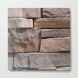 Artisan Masonry Stone Wall - Corbin Henry Metal Print