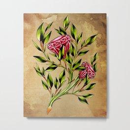 trad ruby roses Metal Print