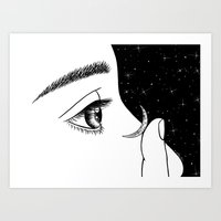 contact Art Prints featuring Contact by Henn Kim