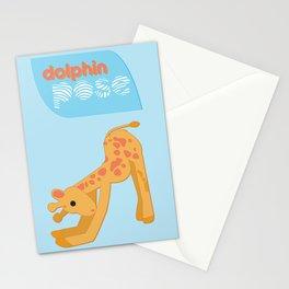 I Hatha Pose For You - Giraffe  Stationery Cards