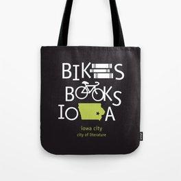 Bikes Books Iowa Tote Bag