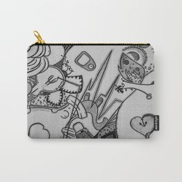 Plug Me In v.1 Black & White  Carry-All Pouch
