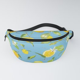 Watercolor Lemon & Leaves 9 Fanny Pack