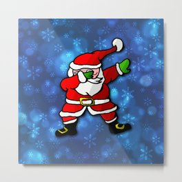 Christmas Santa Dance Dab Metal Print