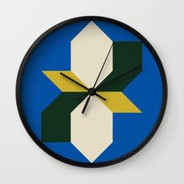 Modern Block #4 Wall Clock