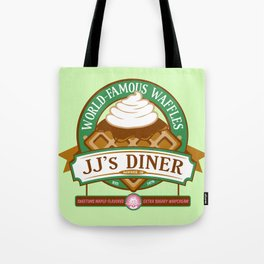 JJ's Diner: A Parks and Recreation Parody Tote Bag