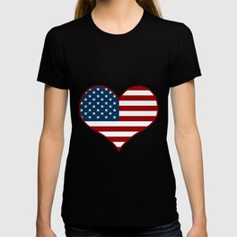 Love USA Heart Flag - Patriot/Independence Day T-shirt