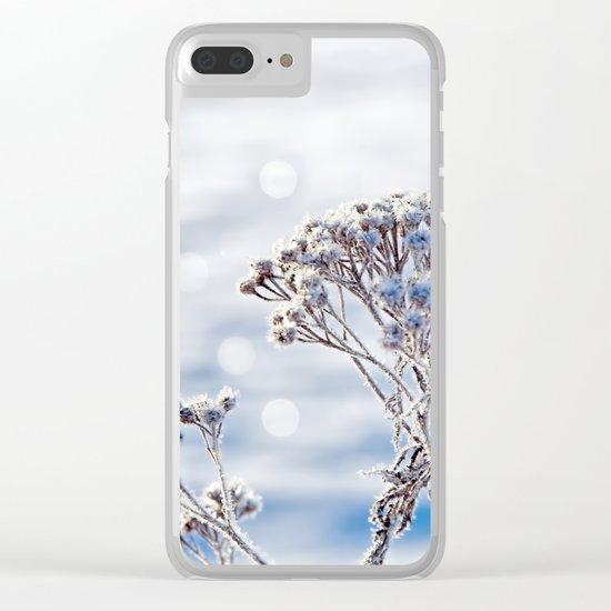 Sparkling hoar frost II Winter Snow Sun Bokeh Clear iPhone Case