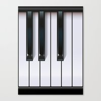 piano Canvas Prints featuring Piano by rob art | illustration