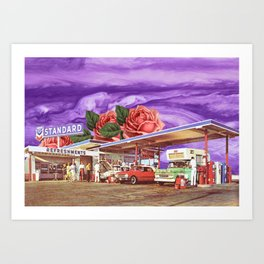 QUEEN OF THE GAS STATION Art Print