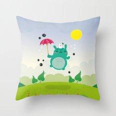 Cute neighbor Throw Pillow