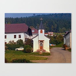 The village church of Hintenberg I   architectural photography Canvas Print