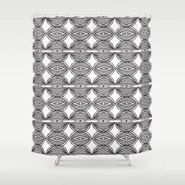 African ethnic geometric pattern 1 Shower Curtain