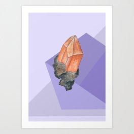 Geometric Topaz Art Print