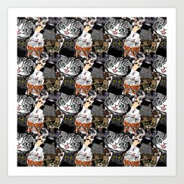 Derp Cats Art Print