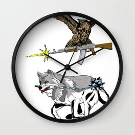 OWL WOLF ALLIANCE 3 Wall Clock