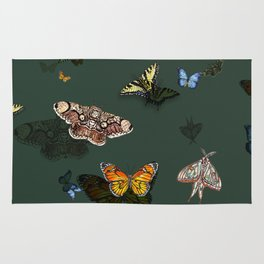 Insecta Print - Emerald Shadow Rug