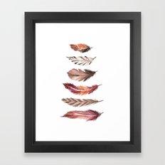 Bohemian Feathers Framed Art Print