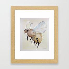 Sunny Bee Watercolor Framed Art Print