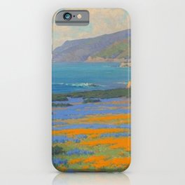 Spring Morning, Poppy and Lupine Flowers, California Coast by John Marshall Gamble iPhone Case