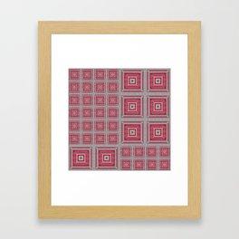 """""""Grandma's pink blanket"""" Framed Art Print"""
