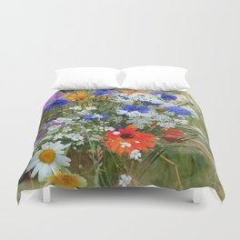 Wildflowers in a summer meadow Duvet Cover