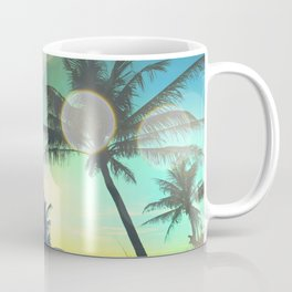 Summer Dreams : Pastel Palm Trees Coffee Mug