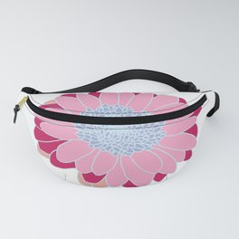 Painted Daisy on Ice Blue Fanny Pack