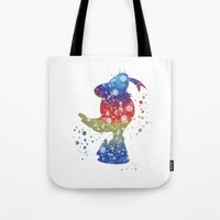 donald duck Tote Bags featuring Donald Duck Disneys by Carma Zoe