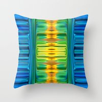 waterfall Throw Pillows featuring Waterfall by Bruce Stanfield