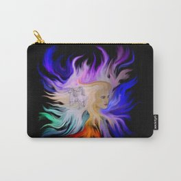 Woman and Horse - Fantasy Rainbow Art Carry-All Pouch
