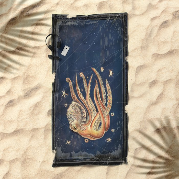 SPACEpolpo -   space octopus Beach Towel