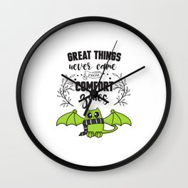 Great Things Comfort Zone Cute Cat Wall Clock