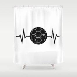 Handball Heartbeat Distressed Look Shower Curtain