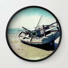 Waiting for the tide to change Wall Clock